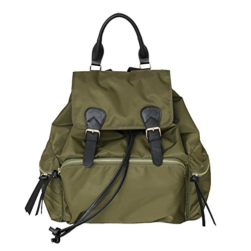 VF P923 Leather Accent Twill Backpack Khaki by Violett-Backpacks