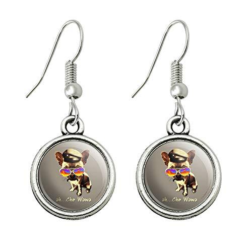 GRAPHICS & MORE Ah Che Wawa Chihuahua Dog Vintage Retro Novelty Dangling Drop Charm Earrings ()