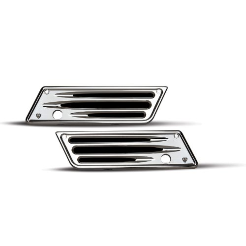 Arlen Ness 03-529 Deep Cut Chrome Saddlebag Latch Covers for Harley 93-13 FLT (03-529)