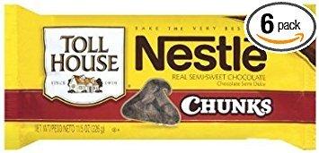 Nestle, Toll House, Semi Sweet, Chocolate Chunk Morsels, 11.5oz Bag (Pack of (Semi Sweet Chocolate Chunks)