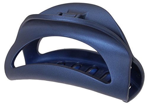 [France Luxe Large Cutout Curve Jaw - Matte Navy] (23 Jaw)
