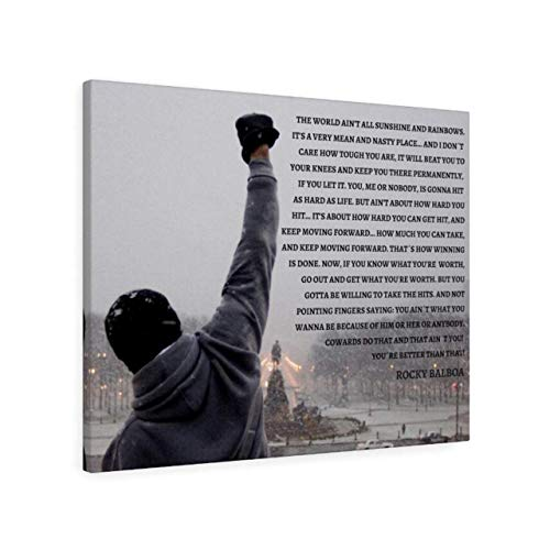 Rocky Balboa Quote Canvas Print Wall Decor Motivational Quote 16×20 inch Wall Art