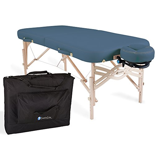 """EARTHLITE Premium Portable Massage Table Package SPIRIT – Spa-Level Comfort, Deluxe Cushioning incl. Flex-Rest Face Cradle & Strata Face Pillow, Carry Case (30/32"""" x 73"""") – Made in USA"""