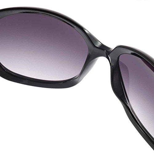 de Protección Negro redondas UV Gafas Lady Oval Mengonee de plástico Mujeres Grandes Gafas Gafas clásicas sol Marco Gran qpfXR