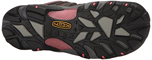 Keen Utility Womens Flint Low Work Boot, Magnet/Rose, 9.5 M US