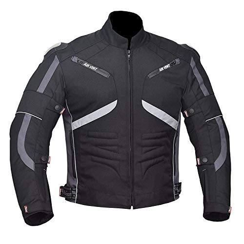 NORMAN Black Mens Jacket Motorcycle Motorbike Waterproof Textile Cordura with CE Armoured