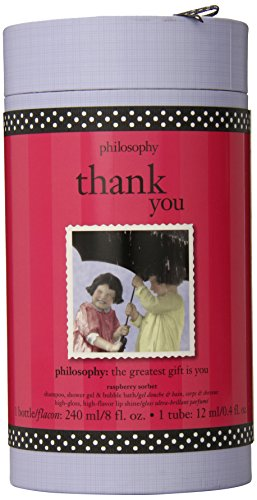Philosophy Thank You Raspberry Sorbet,8oz shower gel/0.4oz lip shine Gift set