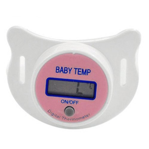 SODIAL(R) Infants LED Pacifier Thermometer Baby Health Safety Temperature Monitor Kids Display Fahrenheit Pink from SODIAL(R)