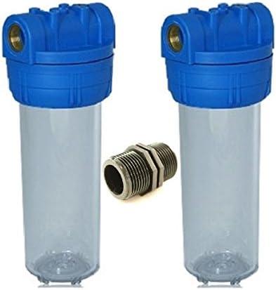 """2x vide cartouche filtre 10/"""" pour Filtre Boîtier Osmose Inverse installation Filtre à eau"""