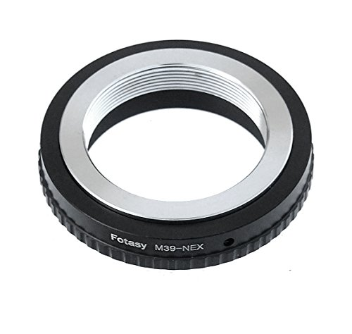 Fotasy Adjustable Leica M39 / L39 / LTM/ 39MM Screw Mount lens to Sony E-Mount Camera Adapter, fits Sony a6500 a6300 a6000 a5100 a5000 a3500 a3000