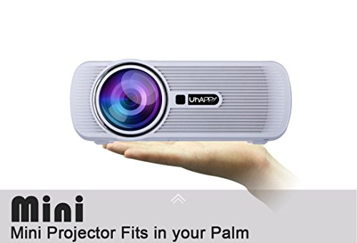 LED HD Micro Home Theater Projector ,Tuscom U80 1000lumens 1080P Multimedia Mini Portable HD Projector (White) by Tuscom (Image #5)
