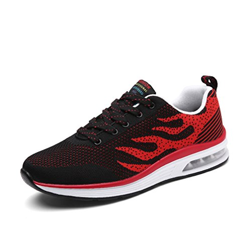 [XINXIKEJI]ランニングシューズ メンズ 24.5-29.0CM 大きめ ローカット スニーカー 耐摩耗 衝撃吸収 ウォーキングシューズ トレーニング ジョギング マラソンシューズ 通気性 軽量 滑り止め 心地良い カッコイイ ネイビー 黒 赤 灰色