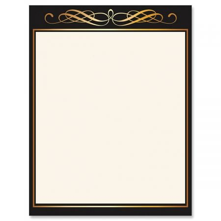 (Calligraphy Frame Celebration Letter Papers - Set of 25, Graduation Stationery Papers, 8 1/2