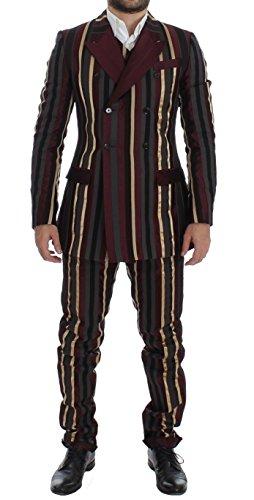 Dolce & Gabbana Multicolor Striped Runway 3 Piece Slim Fit (Dolce & Gabbana Striped Suit)