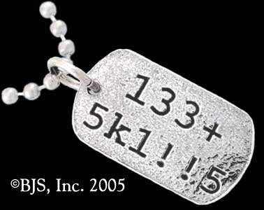 133+ 5k1!!5 (Leet Skills) - Sterling Silver Necklace