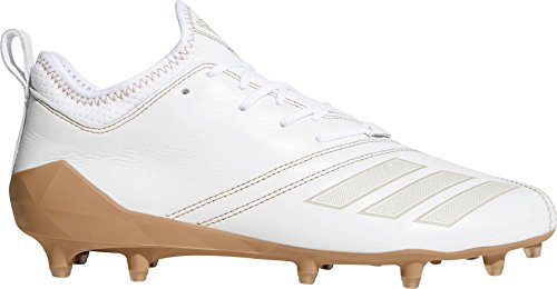 adidas Men's Adizero 5-Star 7.0 Sundays Best Football Cleats (White/Brown / 16 D(M) US) (Adizero 5 Star Sunday's Best)