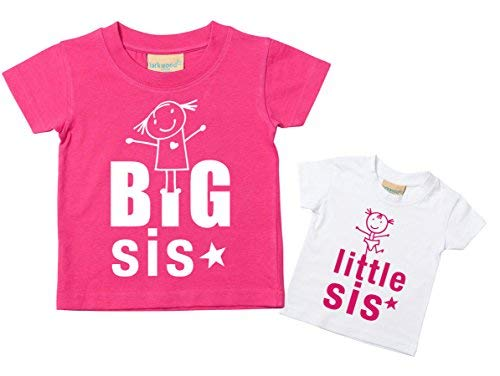 os Set Kids 0 6 a Purple Sister Little Toddler tama T Tshirts Sis 15 Baby os Disponible Pink por shirt Or en meses Nuevo regalo Big 14 Sisters U4HqnIvw