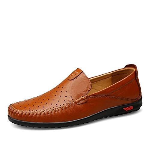 Cuero Cómodo Redonda fei Zapato red Solo Guisantes Hombre 41 De Perezosos Conducción Ocio Punta Moda Gpf Mocasines Zapatos Transpirable CpAqRwxqOX