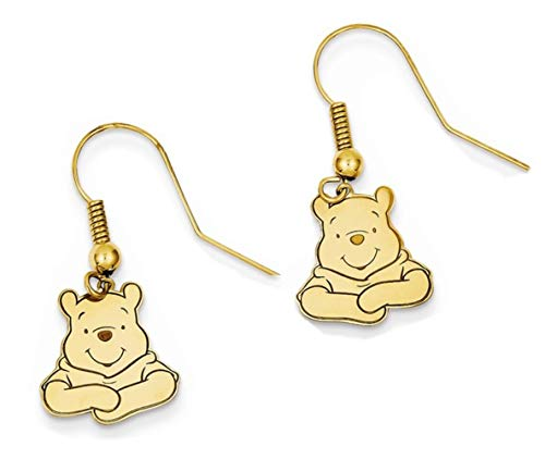 (Roy Rose Jewelry Gold on Sterling Silver Disney Winnie The Pooh Dangle Wire)