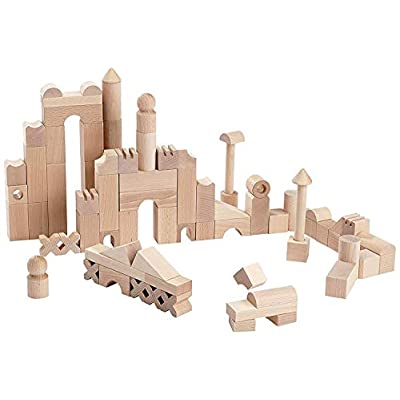 HABA Basic Building Blocks 102 Piece Extra Large Wooden Starter Set (Made in Germany): Toys & Games