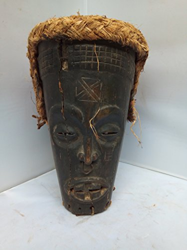 Antique Chokwe Helmet Mask From Congo and Angola 10x9 in