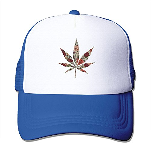 Cap-Hemp-Marijuana-Floral-Flowers-Mesh-Hat