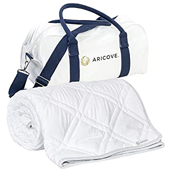 Image of Aricove Cooling Weighted Blanket Adult | Certified Premium Bamboo Viscose | 48'x72' | 10 lbs or 15 lbs | Weighted Cooling Blanket | Bamboo Weighted Blanket Aricove B07RPDKZX1 Weighted Blankets
