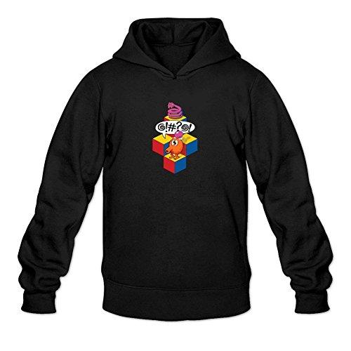 TIANRUN Men's Qbert Arcade Video Game Logo Hoodied Sweatshirt Size L ()