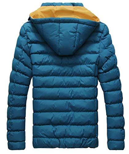 Hooded Lightweight Coat Jacket Puffer Packable Down security Men's Outerwear Blue Winter FEA4xqnpw