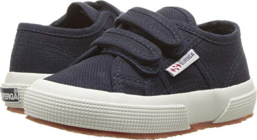 Superga Kids Unisex 2750 JVEL (Toddler/Little Kid) Navy/White 28 M EU M (Superga Kids Classic Shoe)