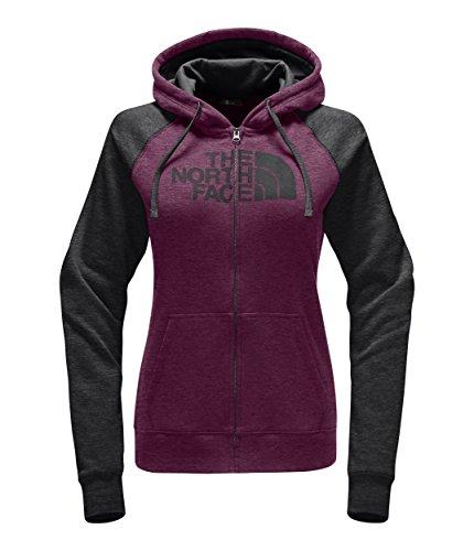 The North Face Half Dome Full Zip Hoodie - Women's Amaranth Purple Heather/Asphalt Grey Medium