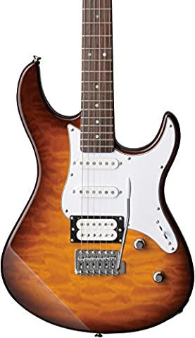 Yamaha PAC212VQM TBS Electric Guitar - Quilted Maple Body and Headstock - Tobacco Sunburst (Yamaha Pacifica Pac212vqm)