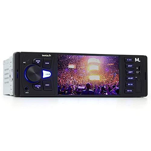 Multilaser Som Automotivo Rock 4 Tela 4 Pol. 1 Din Bluetooth Mp5 4X25Wrms Rádio Fm + Entrada Cartão Sd + Usb + Aux - P3325