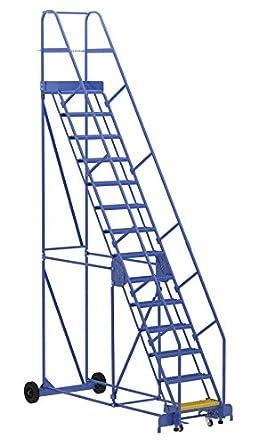 Vestil LAD-14-14-G - Escalera para almacenaje (58 grados, 14 peldaños, 14 peldaños, 14 peldaños, color azul): Amazon.es: Amazon.es