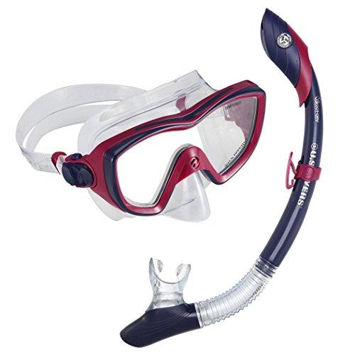 U.S. Divers 281014 Diva II Mask Island Dry Snorkel Combo, Blueberry