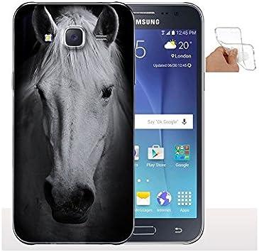 My-Coque Coque Samsung j5 2016 Cheval Noir et Blanc - Collection Animaux Chevaux
