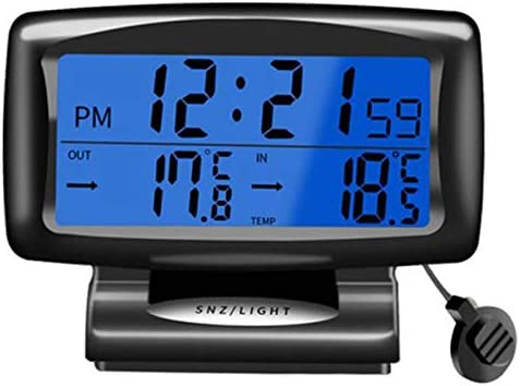 Cikuso Auto Led Thermometer Zeit Elektronische Uhr Uhr Auto Nacht Licht Uhr Temperatur Anzeige Auto Innen Raum Produkte Luminous Auto Zubeh R Auto