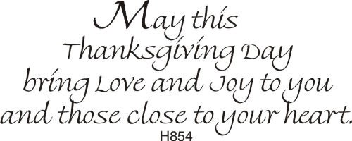 Close Heart Thanksgiving Greeting Rubber Stamp by DRS Designs