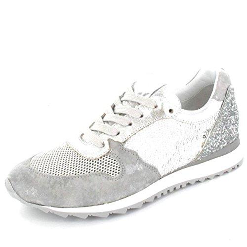 Donna Carolina Sneaker , Farbe: silber/grau