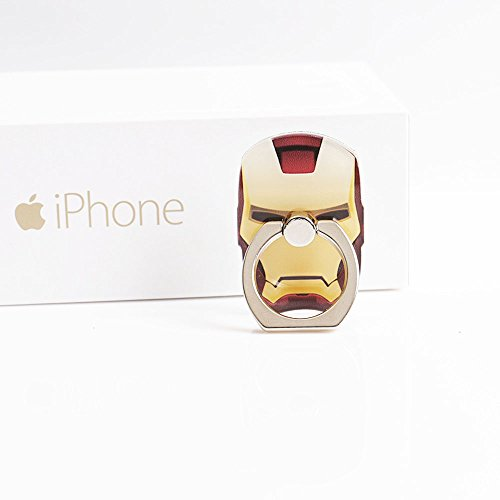 ZOEAST(TM) Avengers Marvel Ring Universal 360� Rotating Phone Buckle Tablet Finger Grip Ring Stand Holder Kickstand Tablets iPhone 4 4S 5 5S 6 6S SE 7 Plus Samsung iPad iPod (Iron Man)