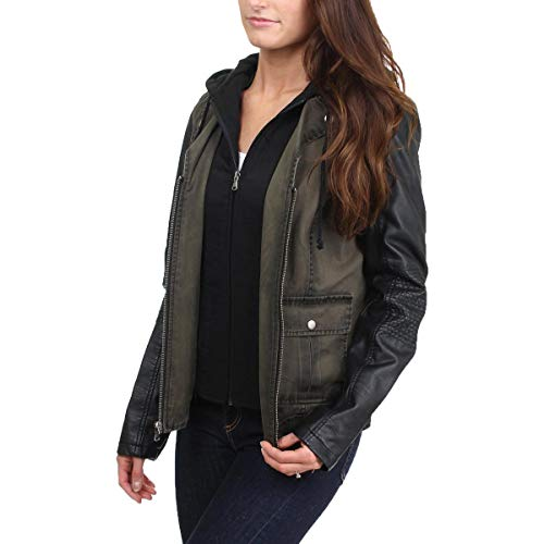 Green Jacket Zip Buster Kenneth Womens Cole Center Fauz S Leather REACTION Web qgTTAv