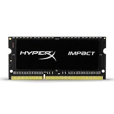 Kingston HyperX Impact Black 4GB 1600MHz DDR3L CL9 SODIMM 1.35V Laptop Memory (HX316LS9IB/4)