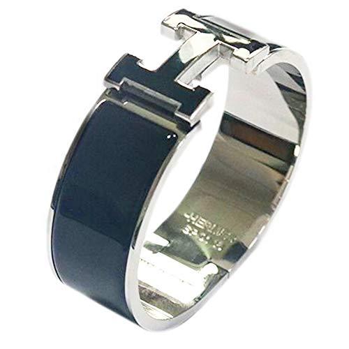 (Glenda Dunn Stainless Steel Wide 20MM Fashion Buckle Bangle Enamel Bracelet Perimeter 7.3