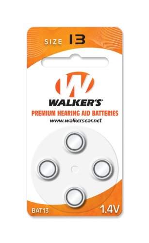 Game Aids (Walker's Game Ear 4-Pack Air Cell Batteries (Fits The Walker elite series of BTE))