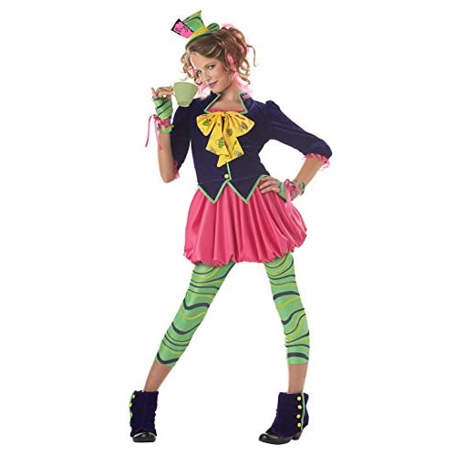 Good California Costumes Girls Tween Mad Hatter Costume Multi X