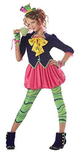 California Costumes Girls Tween Mad Hatter Costume, Multi, Large (Mad Hatter Halloween Party)