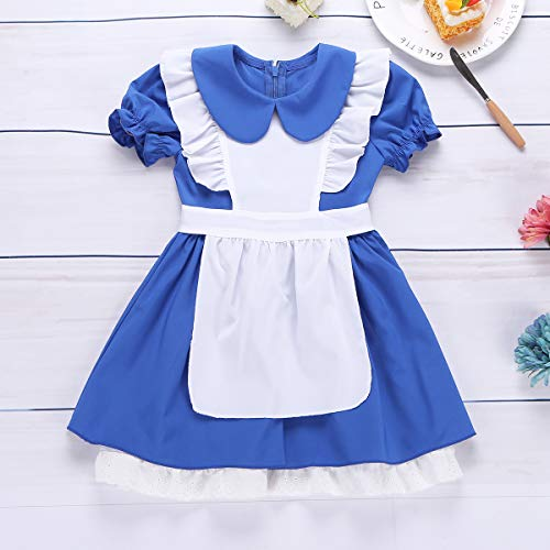 57c9982fe28 YiZYiF Princess Alice Girls Play Dress Up Toddler Adventure Cotton Apron  Halloween Costumes