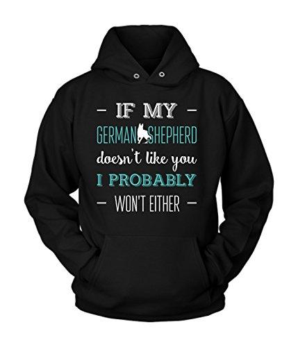German shepherd Hoodie | German shepherd Cotton Fleece Hoodie | Great Hoodie with a Creative Quote about German shepherd (L) ()