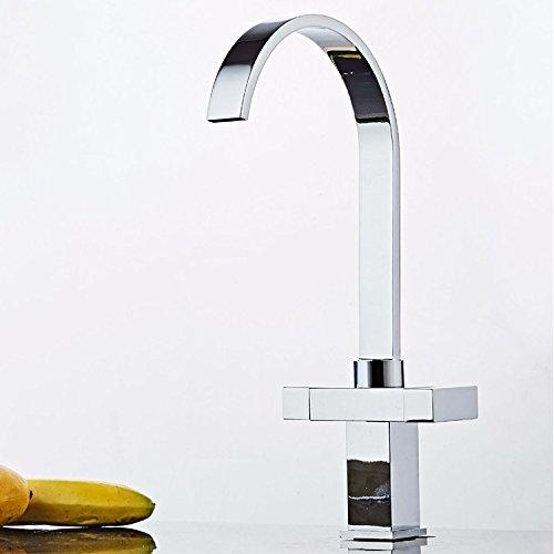 Aawang Waschtischarmatur Wasserhahn Spültisch Waschtisch Waschenbecken Bad Mit Doppelgriff Volle Messing Wasserhahn