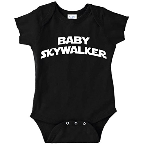 Baby Skywalker Star Wars Parody Funny Baby Bodysuit Infant (BLACK, NEWBORN)